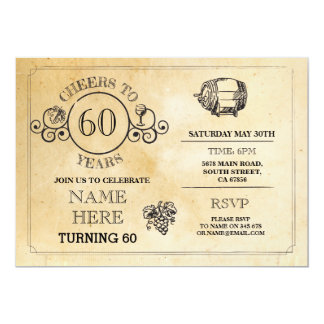 Cheers Wine Tasting Rustic Birthday Party Invite