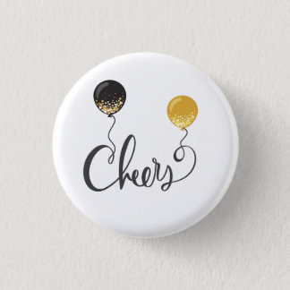 Cheers with Balloons 3 Cm Round Badge