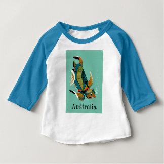 Cheery Australian Sea Turtle Baby T-Shirt