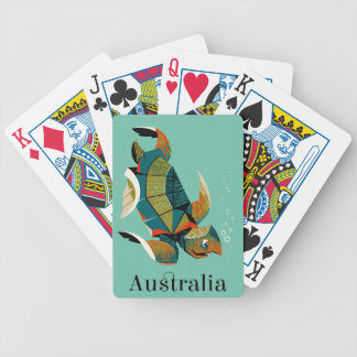 Cheery Australian Sea Turtle Bicycle Playing Cards
