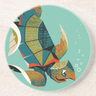 Cheery Australian Sea Turtle Coaster