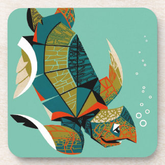 Cheery Australian Sea Turtle Coaster