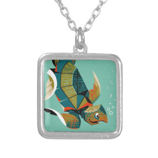 Cheery Australian Sea Turtle Silver Plated Necklace