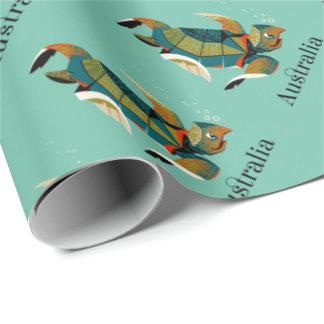 Cheery Australian Sea Turtle Wrapping Paper