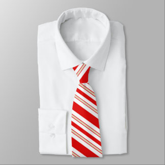 Cheery Candy Cane Stripes in Festive Red and White Tie