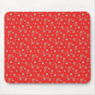 Cheery Cherry Red Ditsy Print Mouse Pad