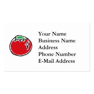 Cheery Cherry Tomato Cartoon Business Card Template