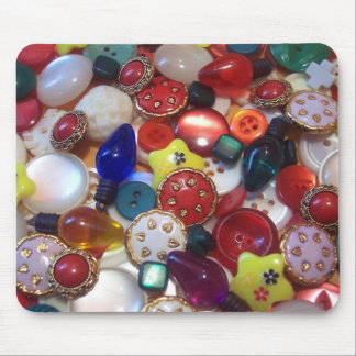 Cheery Christmas Button Collage Mouse Pad