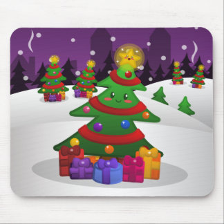 Cheery Christmas Tree Mousepad