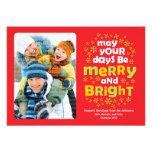 Cheery Merry & Bright Christmas Photo Card
