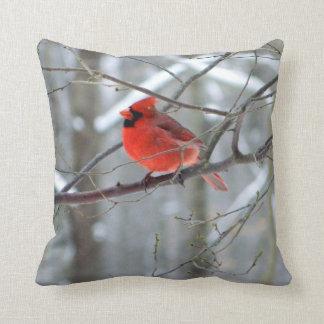 Cheery Red Cardinal Pillow