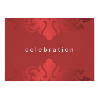 Cheery Red Christmas Company Party 9 Cm X 13 Cm Invitation Card