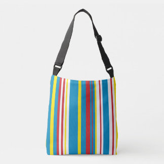 Cheery striped tote bag