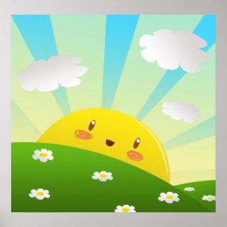 Cheery Sunrise Poster