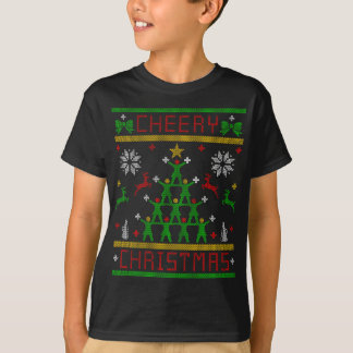 CHEERY XMAS FINAL BEST CHEERLEADER UGLY CHRISTMAS T-Shirt
