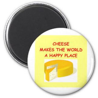 cheese 6 cm round magnet