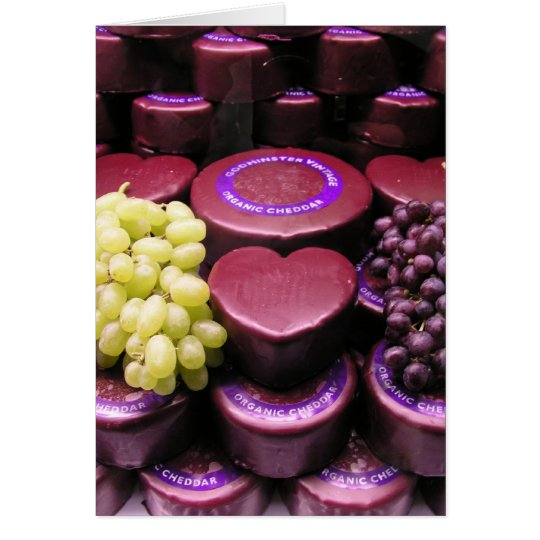 Cheese and grapes card