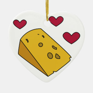 Cheese and Kisses Cockney Rhyming Slang Gift Ceramic Ornament
