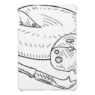 Cheese and Knife Vintage Retro Etching Style iPad Mini Cover