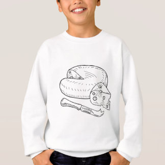 Cheese and Knife Vintage Retro Etching Style Sweatshirt