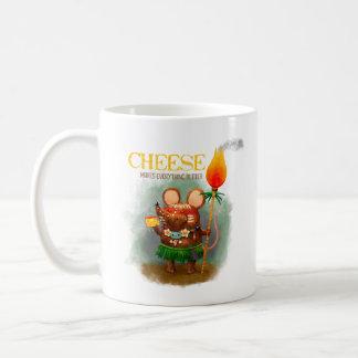Cheese and Prehistoric Mouse Coffee Mug