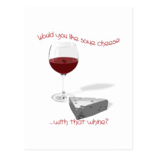 cheese and wine postcard
