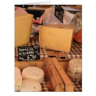 Cheese at a market card