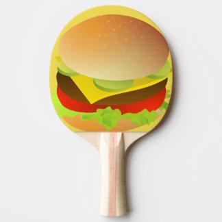 cheese burger ping pong paddle