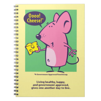 Cheese Club Spiral Notebook