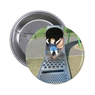 Cheese Grater Slide 6 Cm Round Badge