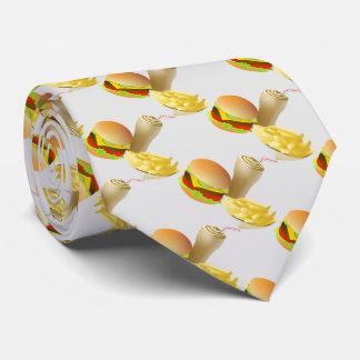 Cheese Hamburger and crips Tie