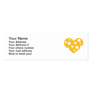 Cheese heart pack of skinny business cards
