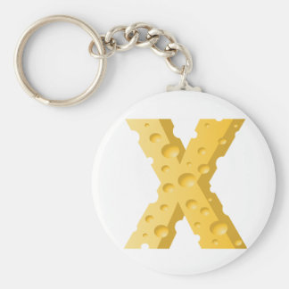 Cheese Letter X Keychain