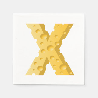Cheese Letter X Paper Napkins