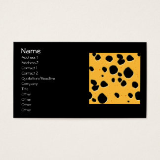 Cheese Pattern Business Card