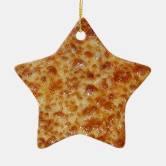 Cheese Pizza Ceramic Ornament
