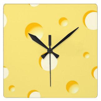 Cheese slice illustration clocks