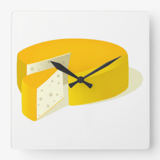 Cheese Square Wall Clock