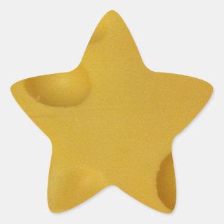 Cheese texture star sticker