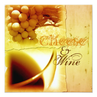 Cheese wine tasting pairing party CUSTOMIZE Card