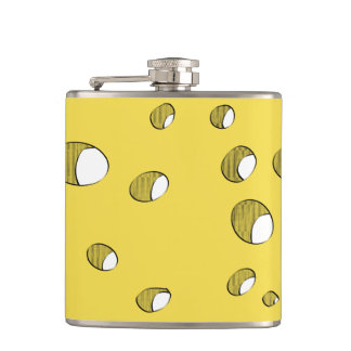 Cheese with holes hip flask
