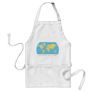 Cheese World Map Apron