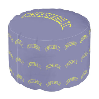 Cheeseaholic Cheese Lover - Blue Background Color Pouf