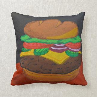 Cheeseburger 16 x 16 square pillow
