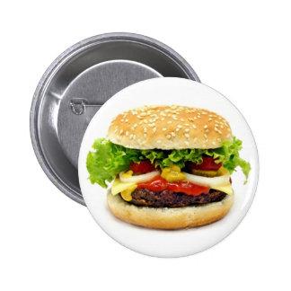 Cheeseburger 6 Cm Round Badge