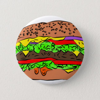 Cheeseburger 6 Cm Round Badge