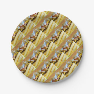 Cheeseburger and Fries Paper Plate