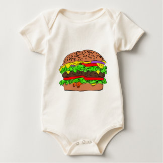 Cheeseburger Baby Bodysuit