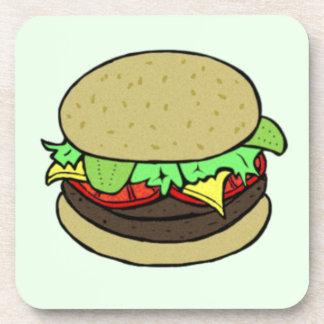 Cheeseburger Beverage Coasters