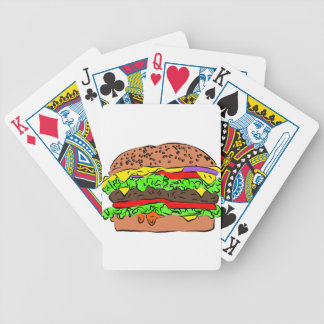 Cheeseburger Bicycle Playing Cards